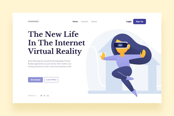 Thumbnail for VR Landing Page Illustration