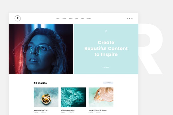 Thumbnail for Rima - Personal Blog WordPress Theme