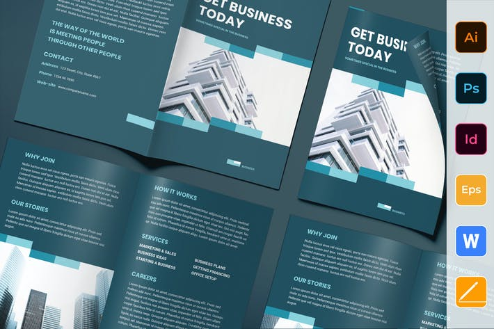 Thumbnail for Business Networking Brochure Bifold
