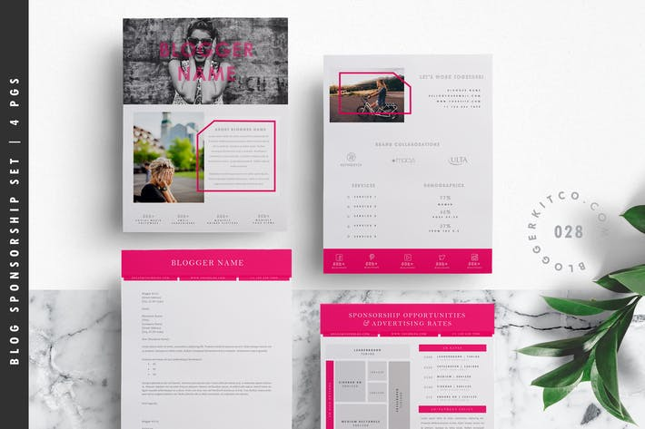Thumbnail for Blog Media Kit Template + Sponsorship Set