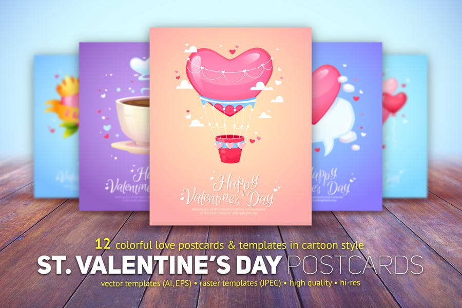 St. Valentine's Day Cards Templates