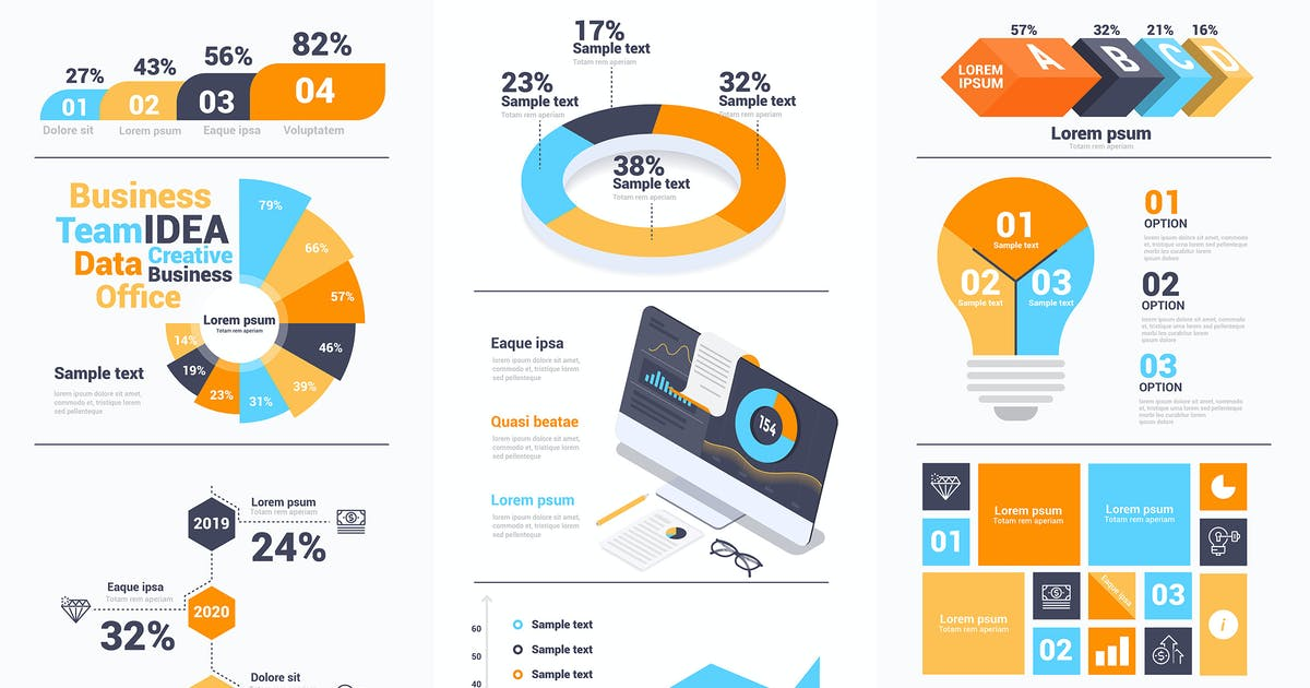 Download Modern Infographics design collection vol.2 by graphics4u