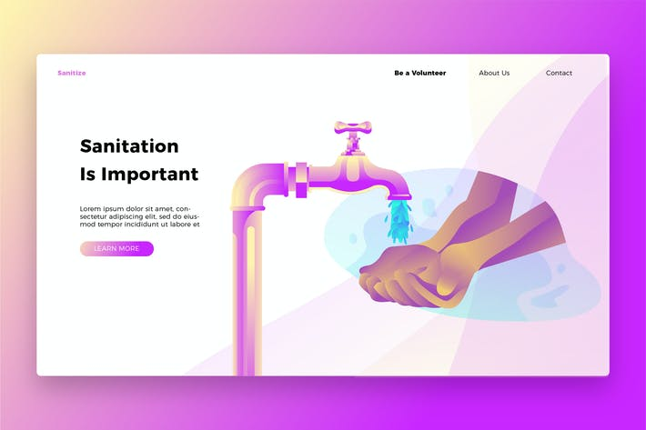 Thumbnail for Sanitation - Banner & Landing Page