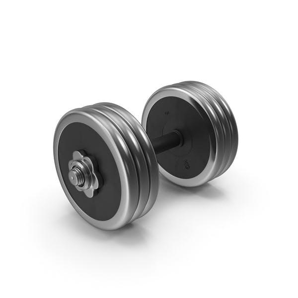 Thumbnail for 30 kg Steel-Rubber Dumbbell