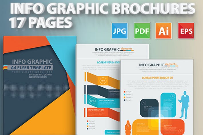 Thumbnail for 17 Pages Info Graphic Brochures Design