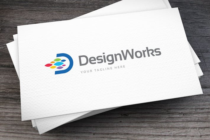 Thumbnail for Design Works Logo Template