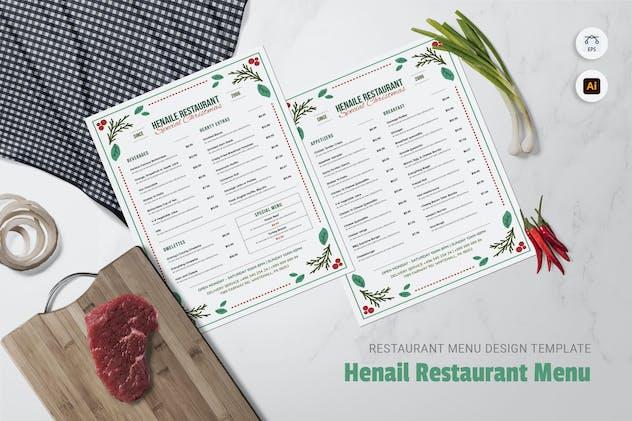 Henail Restaurant Menu