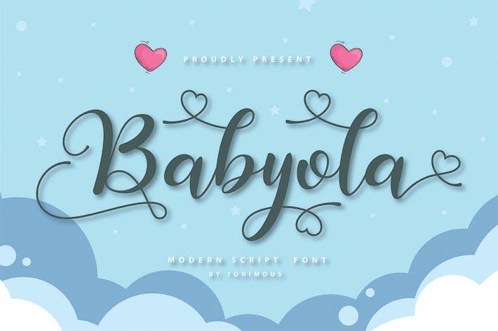 Thumbnail for Police de script Babyola Modern