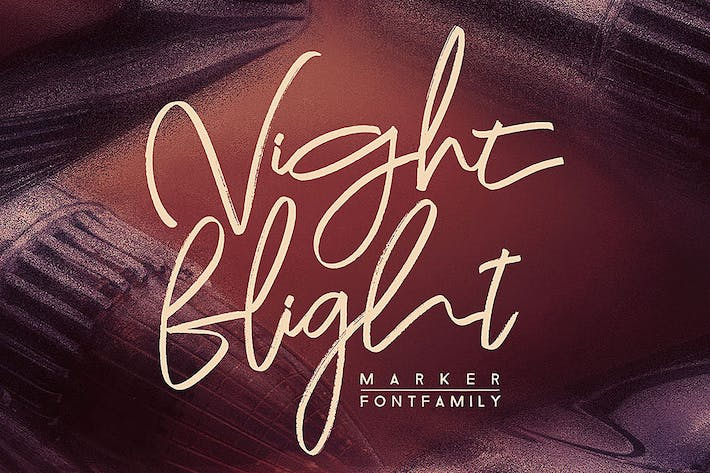 Thumbnail for Night Flight Marker Brush Font