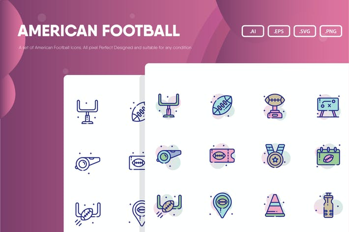 Thumbnail for American Football Icon Pack
