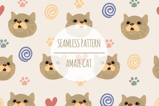 Amaze Cat – Seamless Pattern