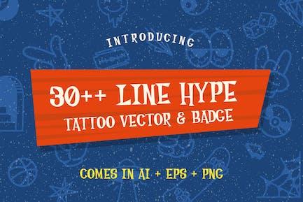 30++ Line Hype Tattoo Vector & Badge