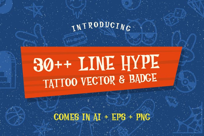 Thumbnail for 30++ Line Hype Tattoo Vector & Badge