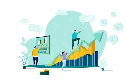 Sales Management Flat Concept Vector Illustration