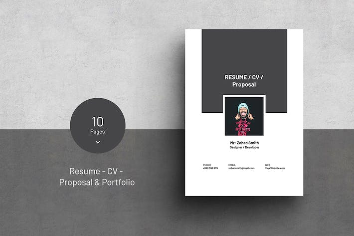 Thumbnail for Multipurpose Resume, CV, Proposal & Portfolio
