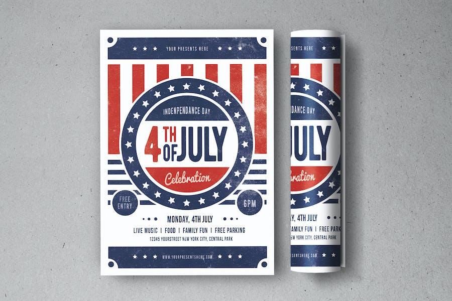 dépliant de célébration du 4 juillet