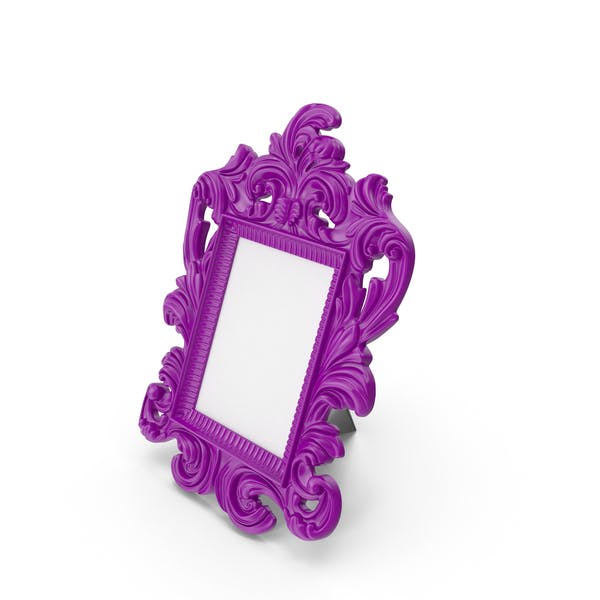 Thumbnail for Baroque Photo Frame Purple