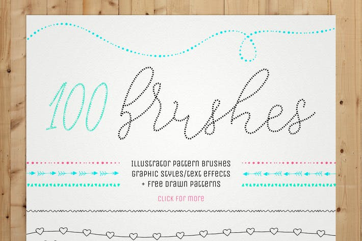 Thumbnail for 100 Pattern Brushes+9 Graphic Styles