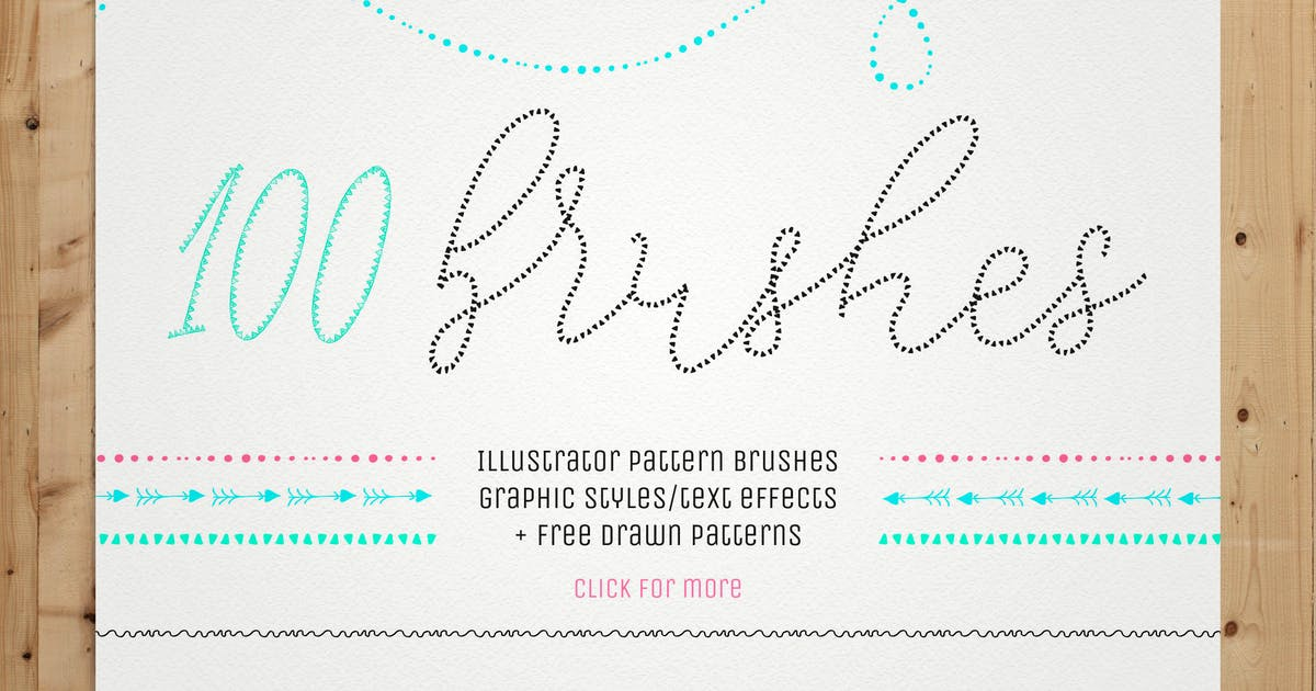 Download 100 Pattern Brushes+9 Graphic Styles by helga_helga