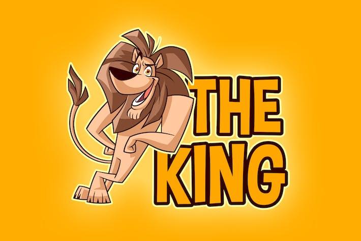 Thumbnail for Cartoon Lion Mascot Logo