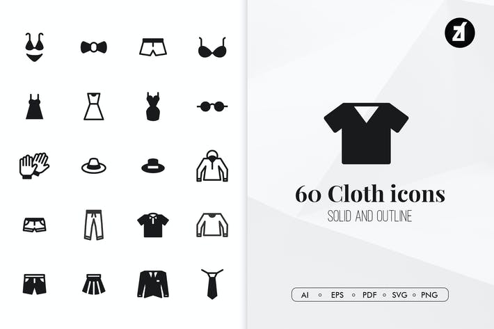 Thumbnail for 60 Cloth minimal icons