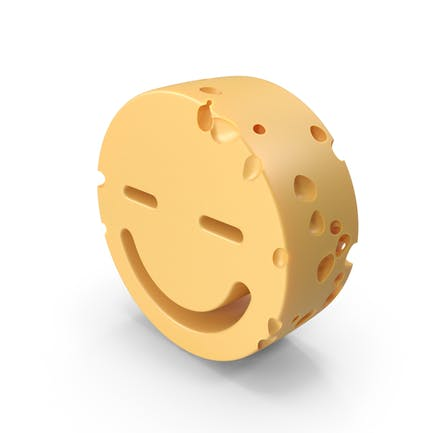 Smiley Face Closed Eyes Cheese