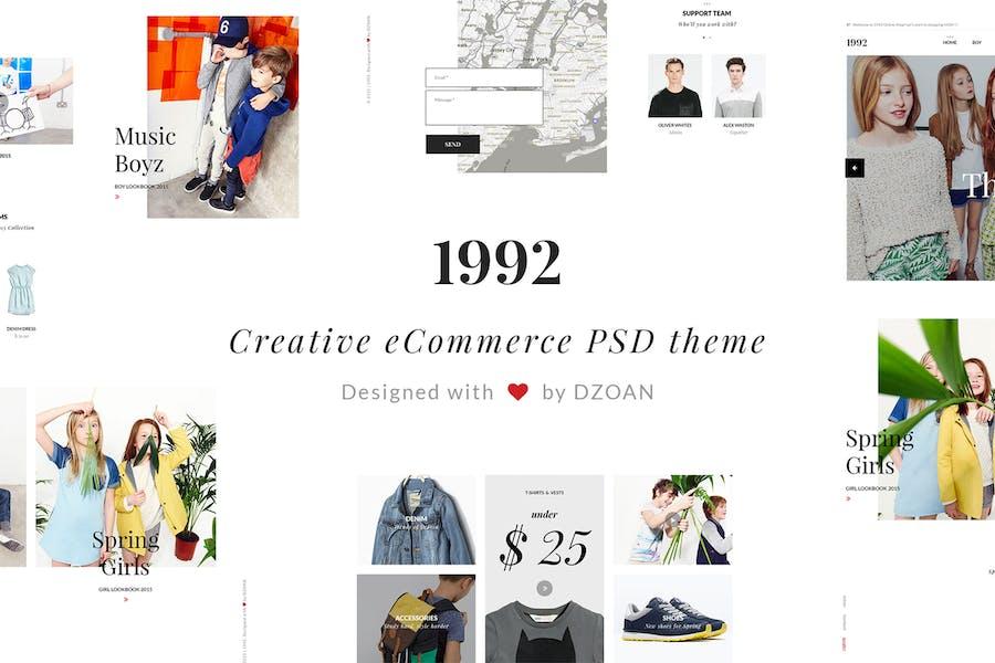 1992 Creative e-Commerce PSD Template