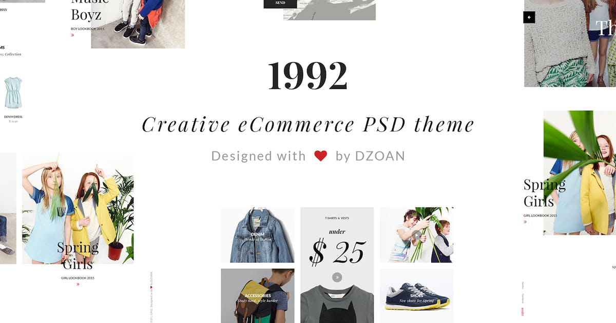 Download 1992 Creative e-Commerce PSD Template by DZOAN