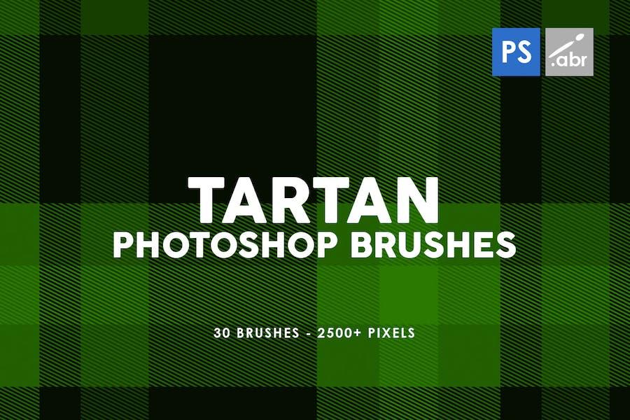 30 Tartan Photoshop Stamp Brushes