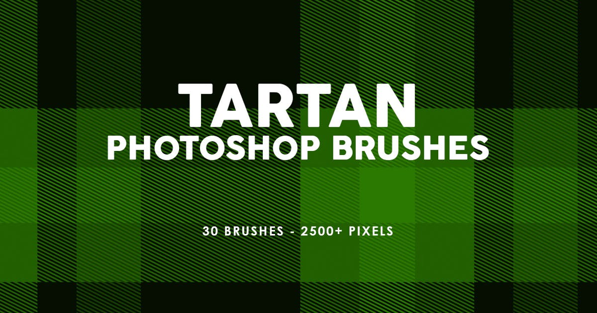 Download 30 Tartan Photoshop Stamp Brushes by M-e-f