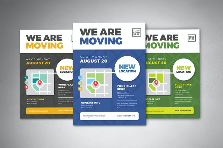 Thumbnail for We Are Moving Flyer Templates