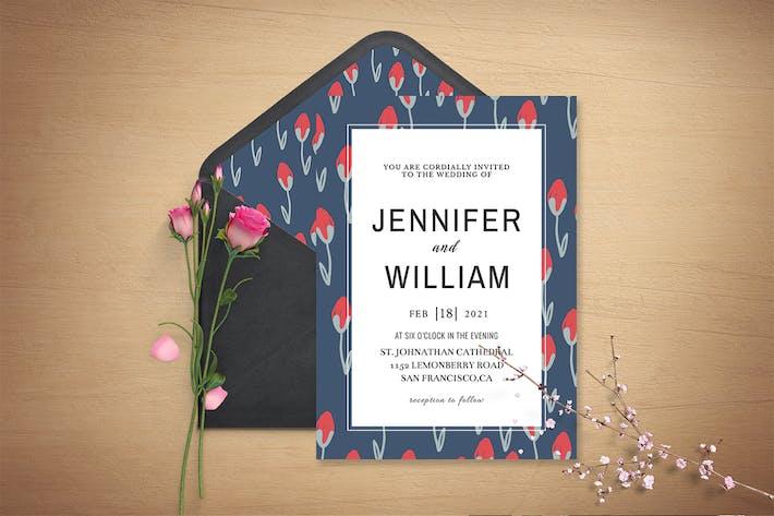 Sober Wedding Invitation Template