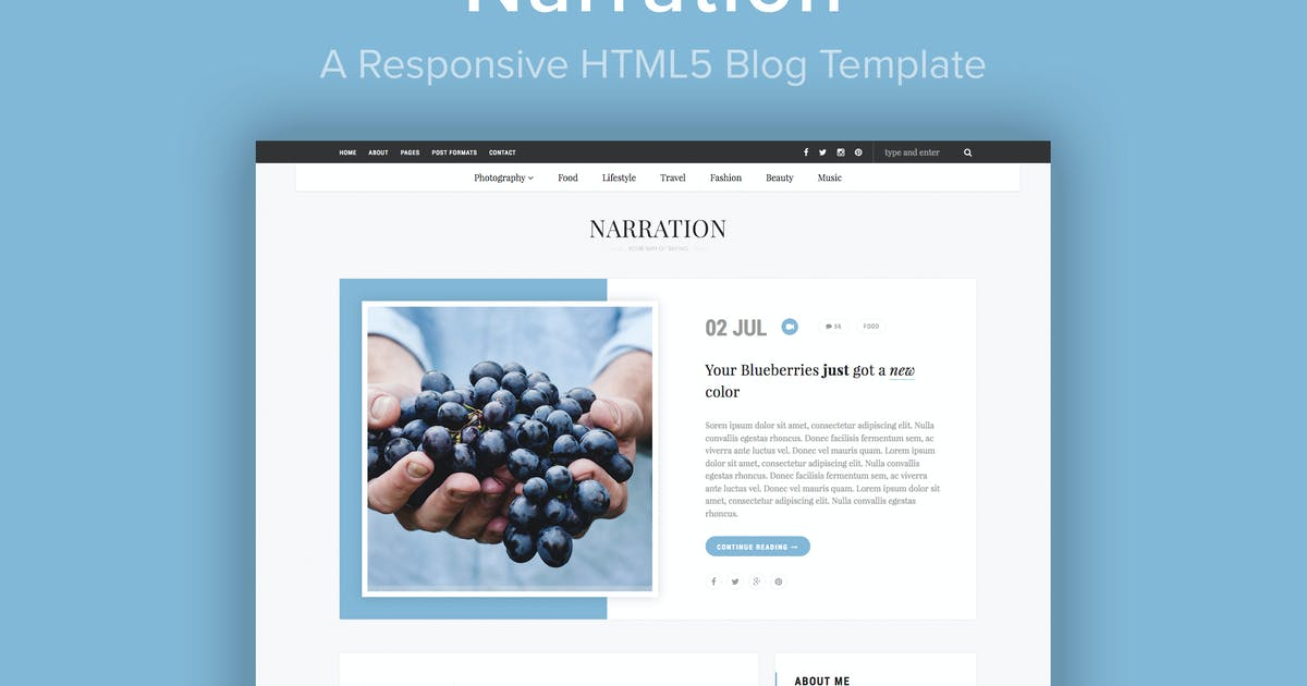 Download Narration - A Responsive HTML5 Blog Template by imithemes