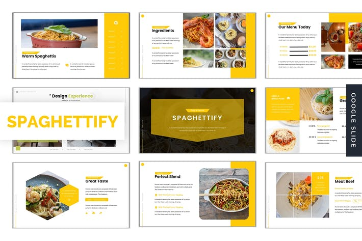 Thumbnail for Spaghettify - Google Slide Template