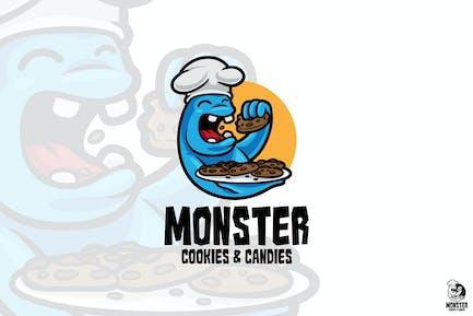 Monster Cookies Mascot Logo