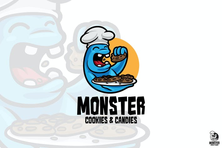 Thumbnail for Monster Cookies Mascot Logo