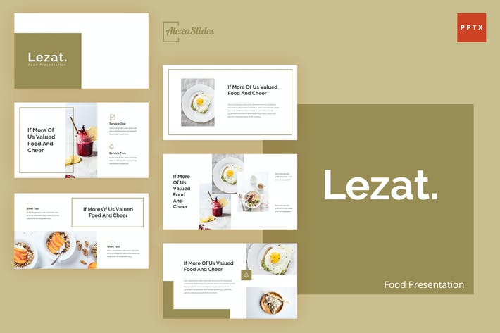 Thumbnail for Lezat - Food Powerpoint Presentation Template