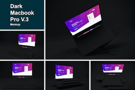 Dark Macbook Pro Mockup V.3