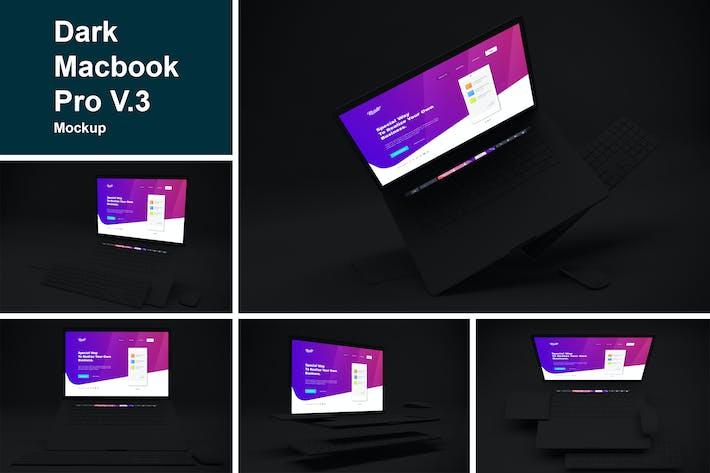 Thumbnail for Dark Macbook Pro Mockup V.3