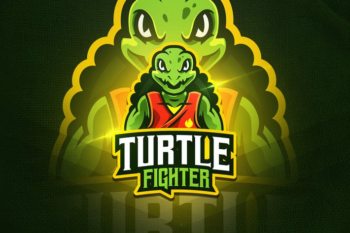 Thumbnail for Turtle Fighter - Mascot & Esport Logo
