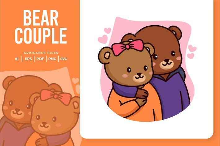 Bear Couple Illustration