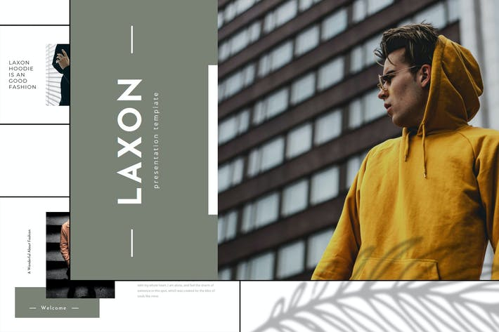 Laxon - Hoody Fashion Google Slide Template