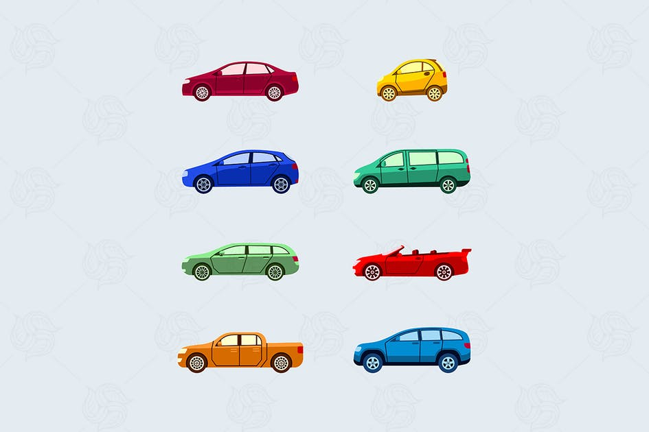 Download Car Classification - modern vector flat icon set. by BoykoPictures