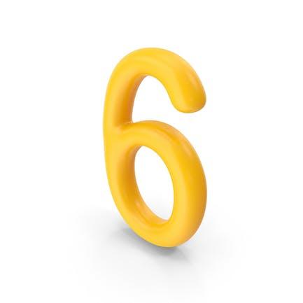 Number 6 Orange