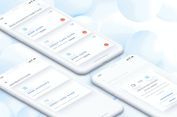 Thumbnail for Wallet Add Bank Mobile Ui for IPhoneX