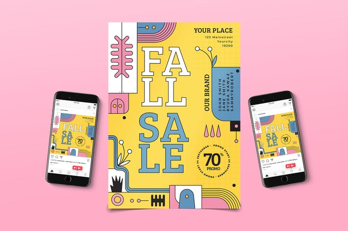 Thumbnail for Memphis Fall Sale Flyer Pack