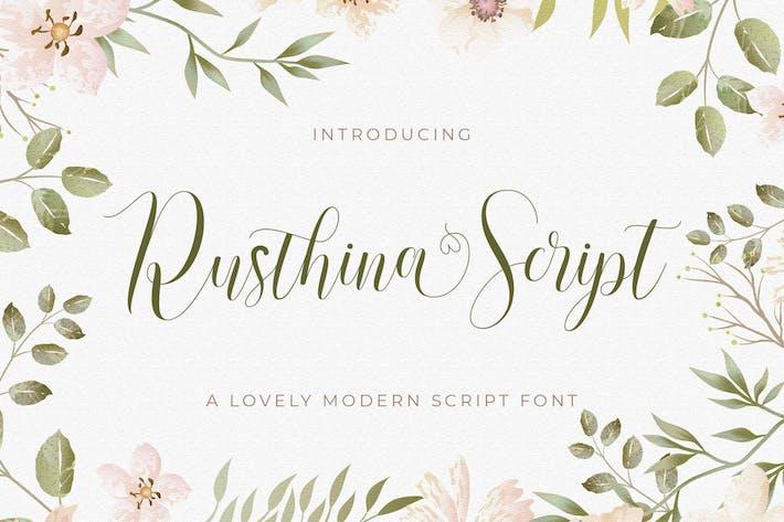 Rusthina - Love Script Fuente