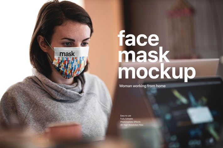 Thumbnail for Medical Face Mask Mockup Template