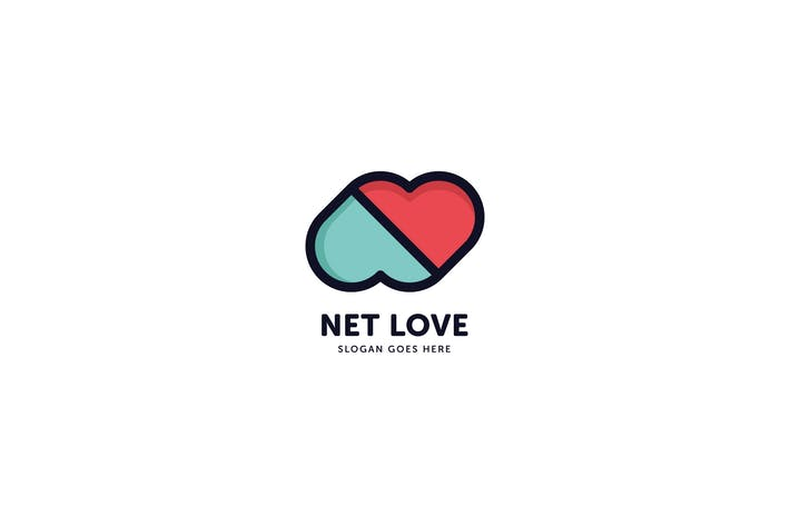 Thumbnail for Net Love Logo Template