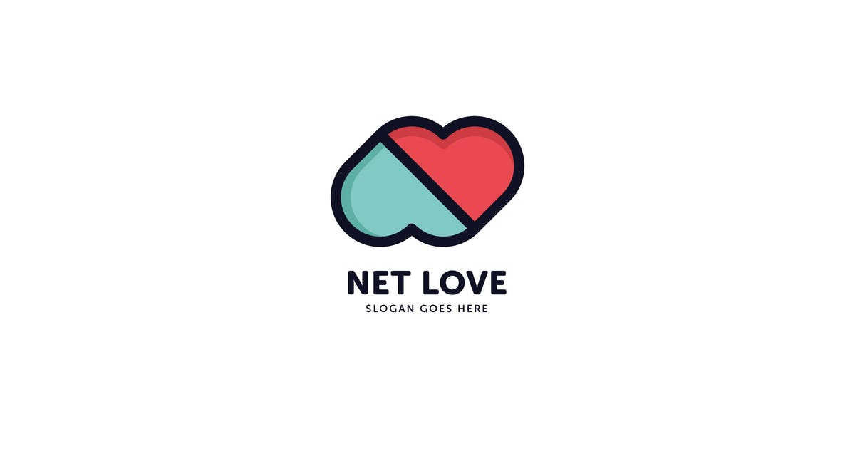Download Net Love Logo Template by Pixasquare